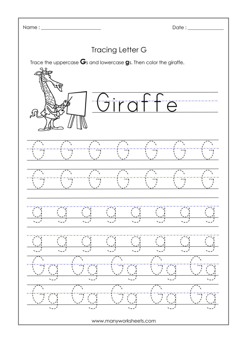 Preschool Letter G Worksheets Worksheet Kindergarten Tracing Worksheets Letter G