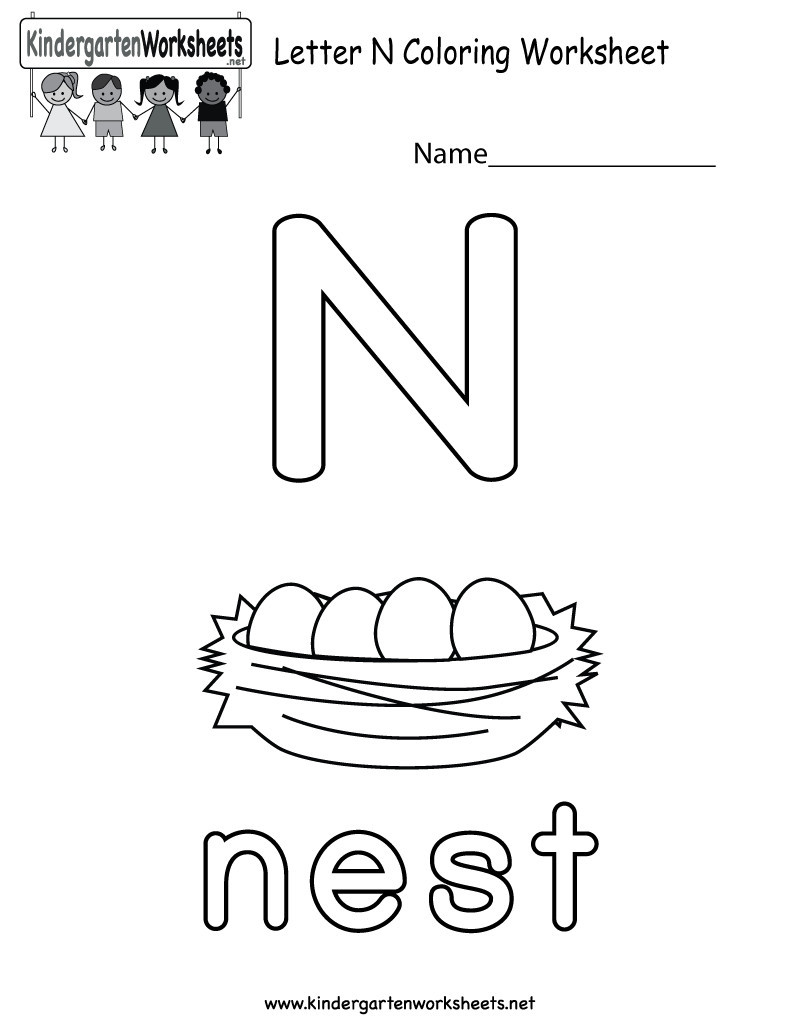 Preschool Letter N Worksheets 14 Interesting Letter N Worksheets for Kids
