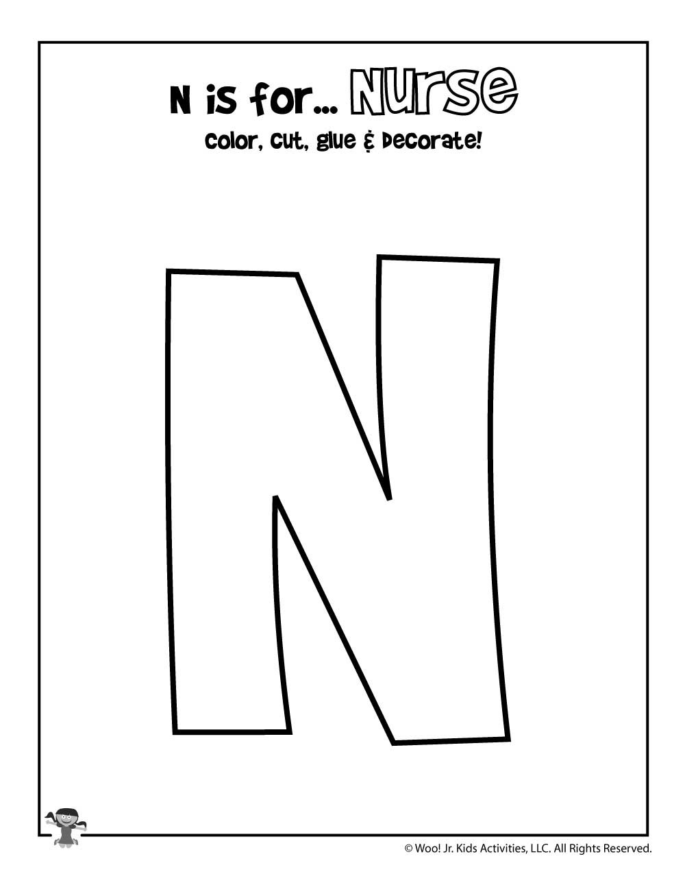 Preschool Letter N Worksheets Printable Letter N Craft