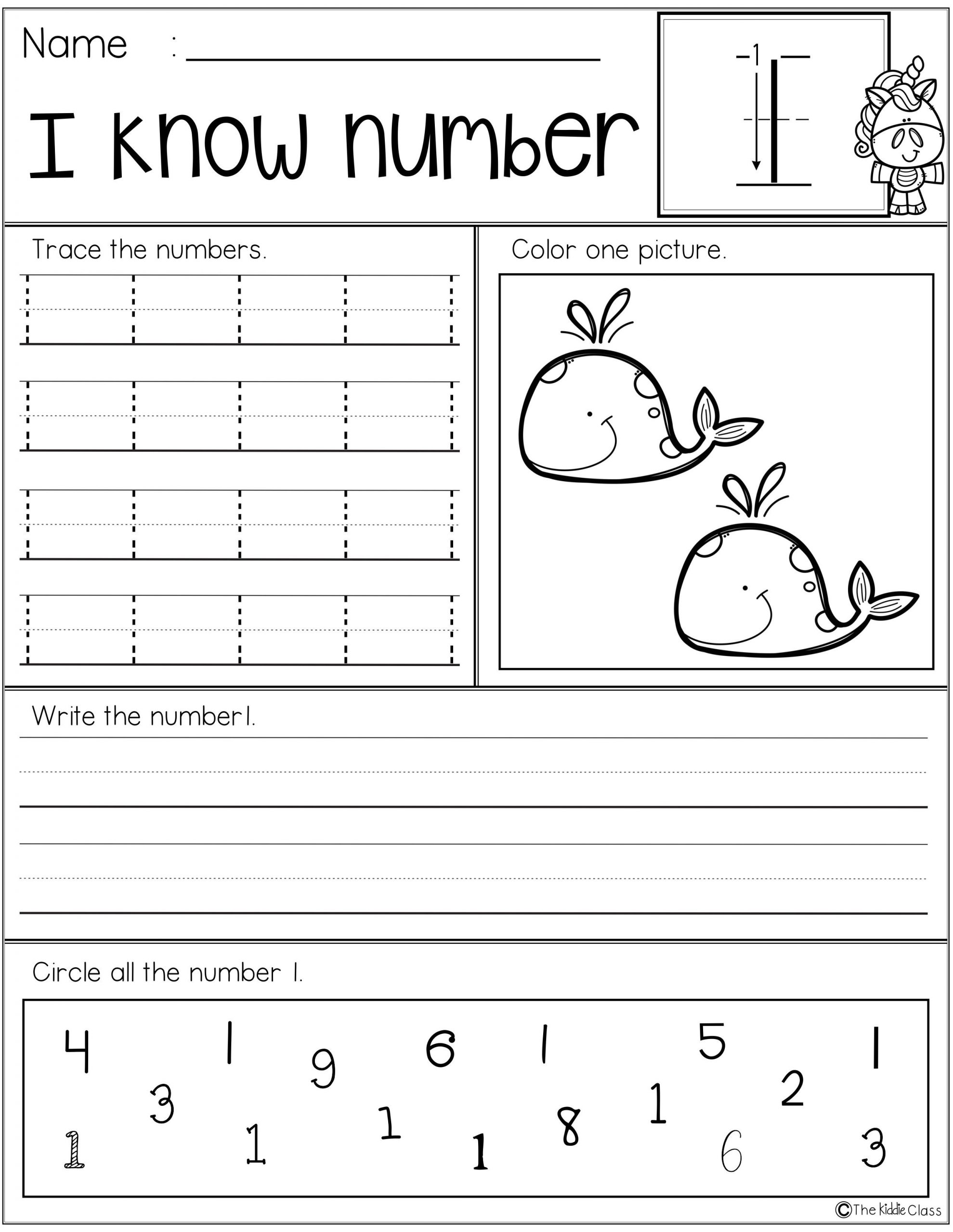 Preschool Number Tracing Free Number Practice Printables