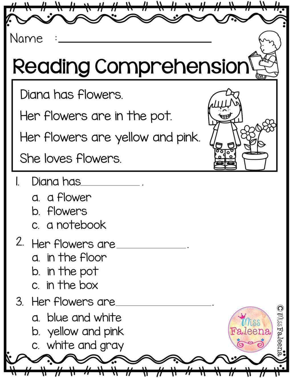 Preschool Reading Comprehension Worksheets Worksheet Free Reading Prehension Worksheet