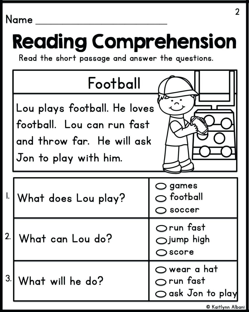 Preschool Reading Comprehension Worksheets Worksheet Worksheet Ideas Excelent Free Second Grade