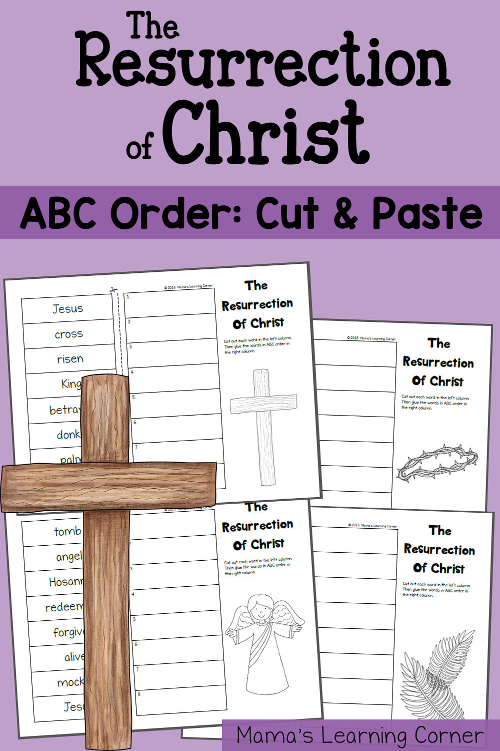 Printable Abc order Worksheets Abc order Worksheet the Resurrection Of Christ Mamas