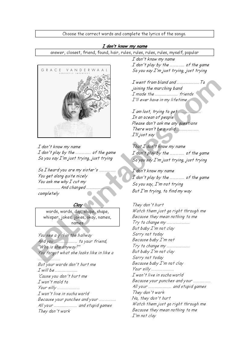 Printable Bullying Worksheets songs Anti Bullying Esl Worksheet by Knds