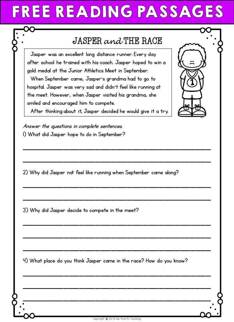 Printable Bullying Worksheets Worksheet Second Grade Reading Prehension Passages and