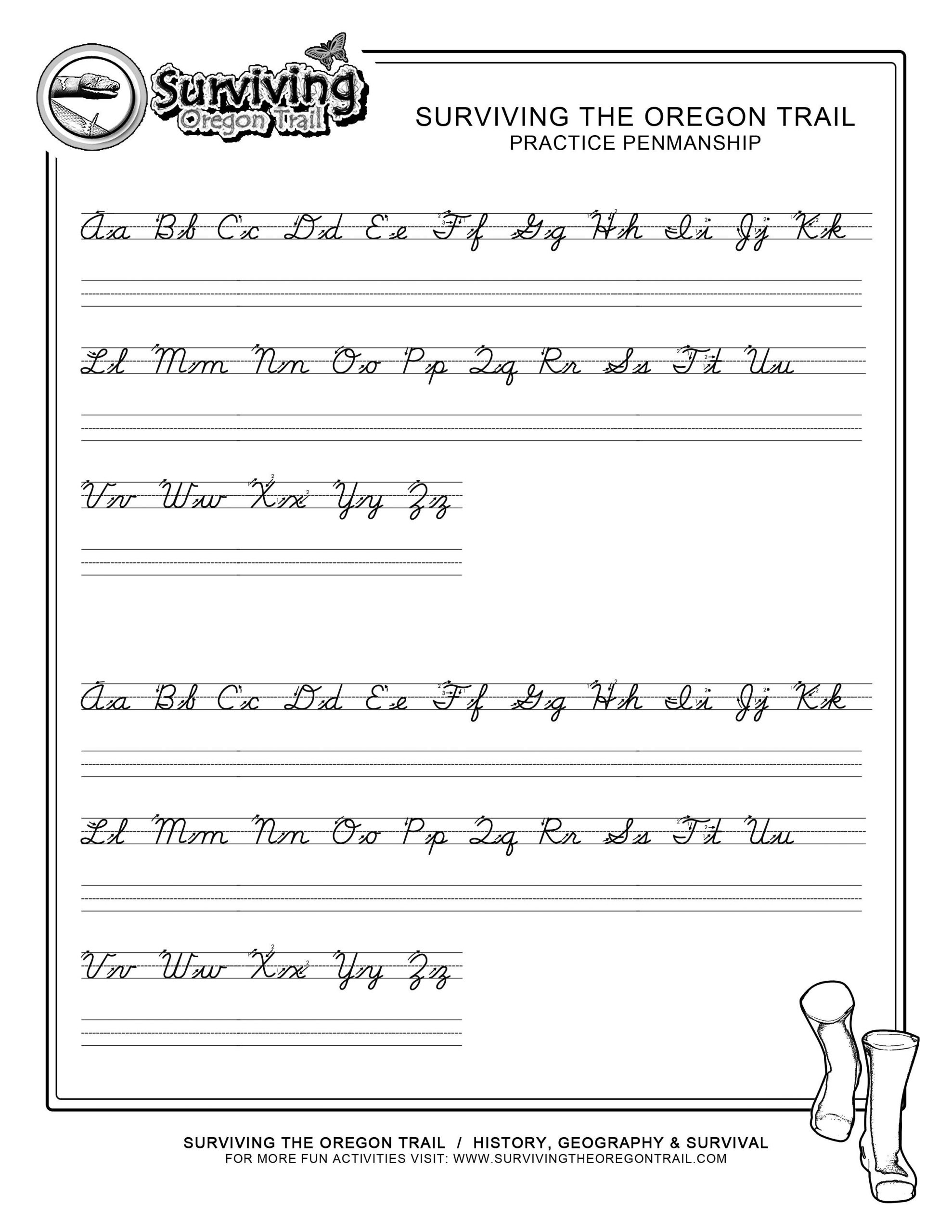 Printable Cursive Alphabet Chart for Cursive Writing Sentences Worksheetscursive