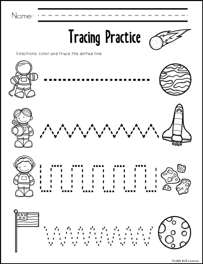 Printable Cutting Worksheets for Preschoolers 10 Pages Of Scissor and Tracing Practice Created by Little