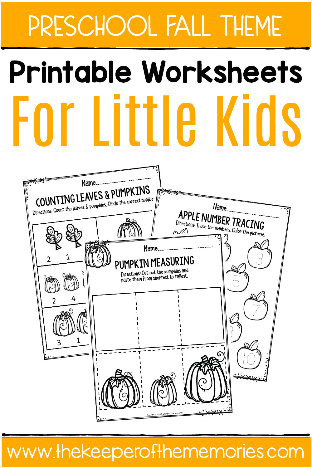 Printable Cutting Worksheets for Preschoolers Fall Printable Preschool Worksheets the Keeper Of the Memories