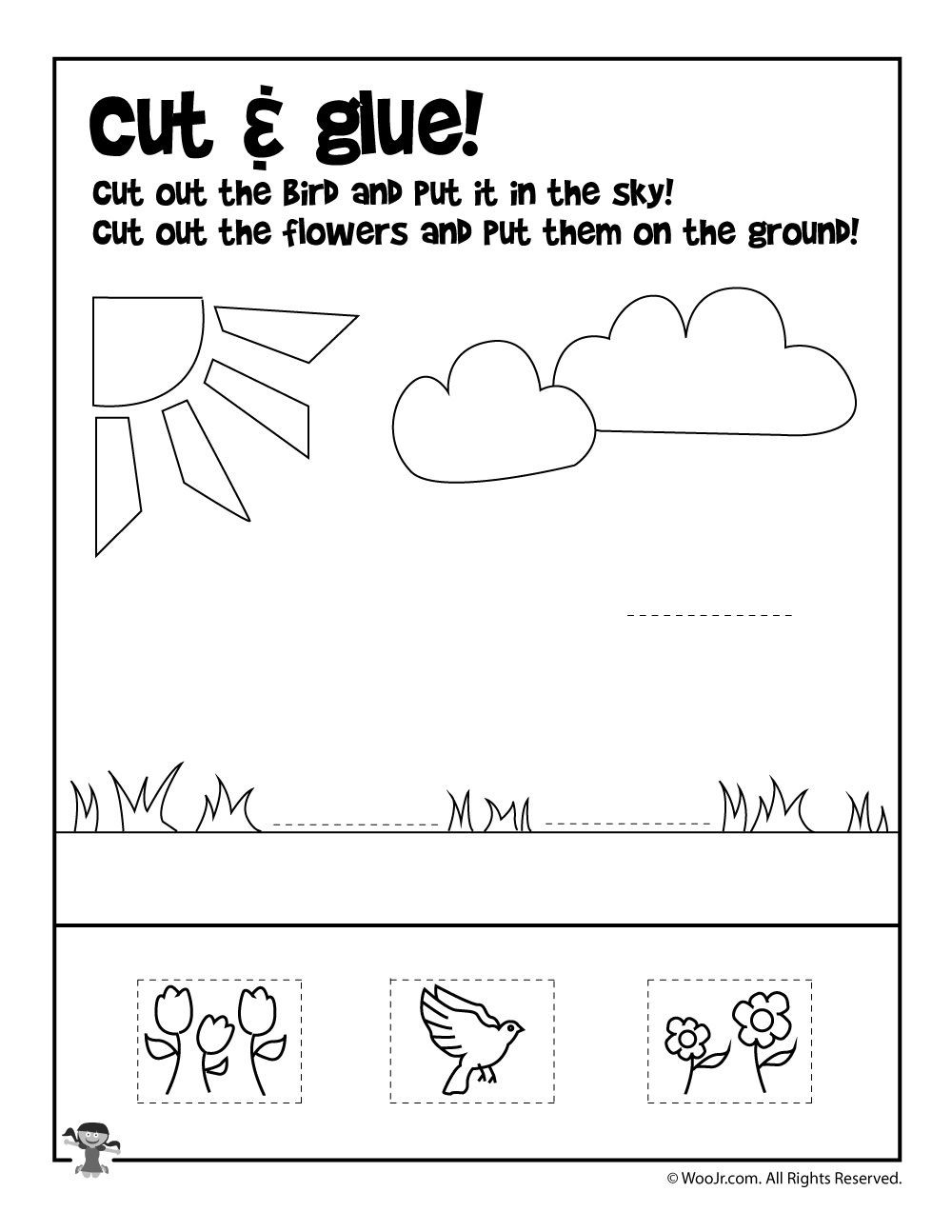 Printable Cutting Worksheets for Preschoolers Printable Activity Sheets for Kids Image Inspirations Pin