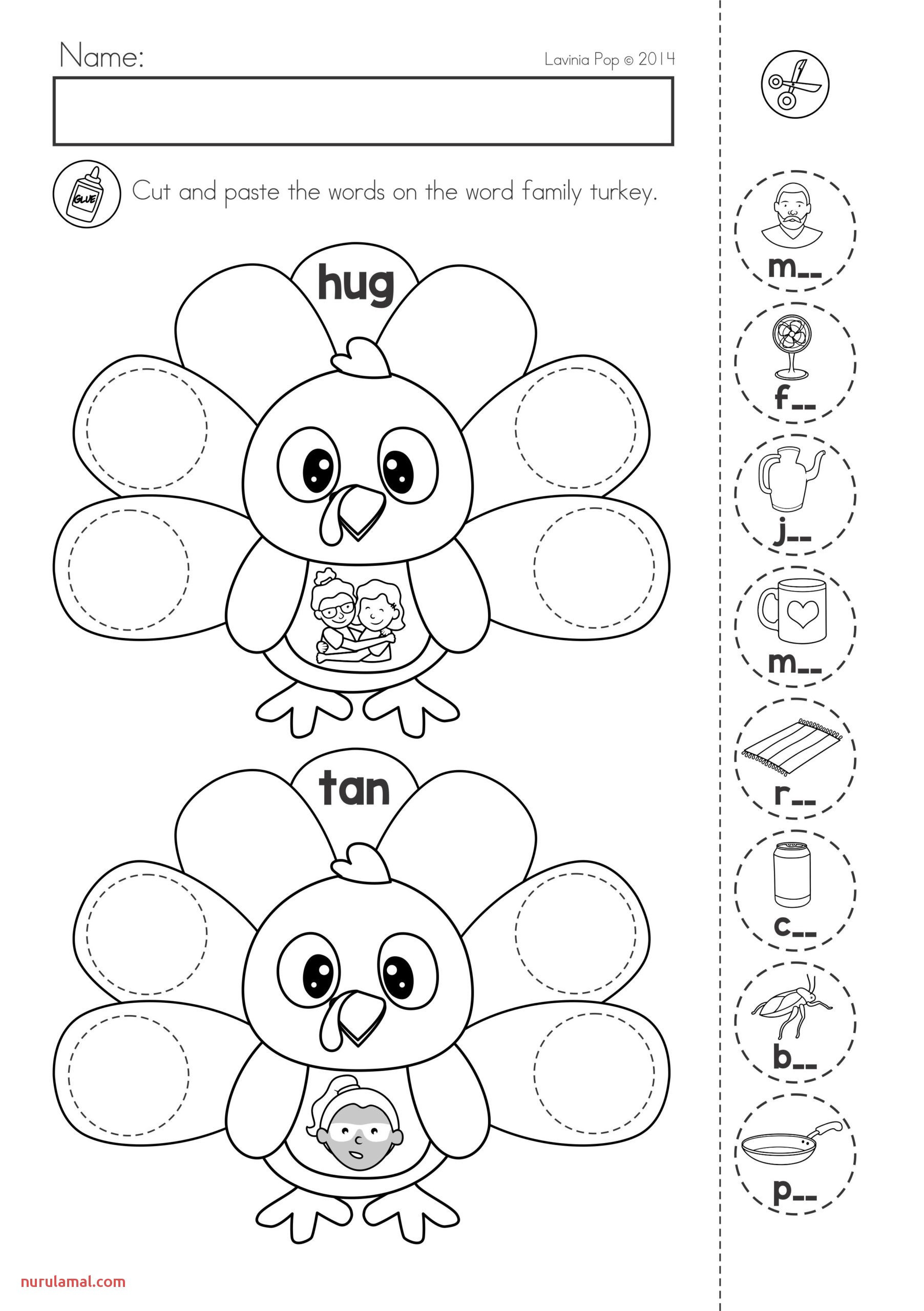 Printable Cutting Worksheets for Preschoolers Thanksgiving Preschool Worksheets Tracing Printable Name