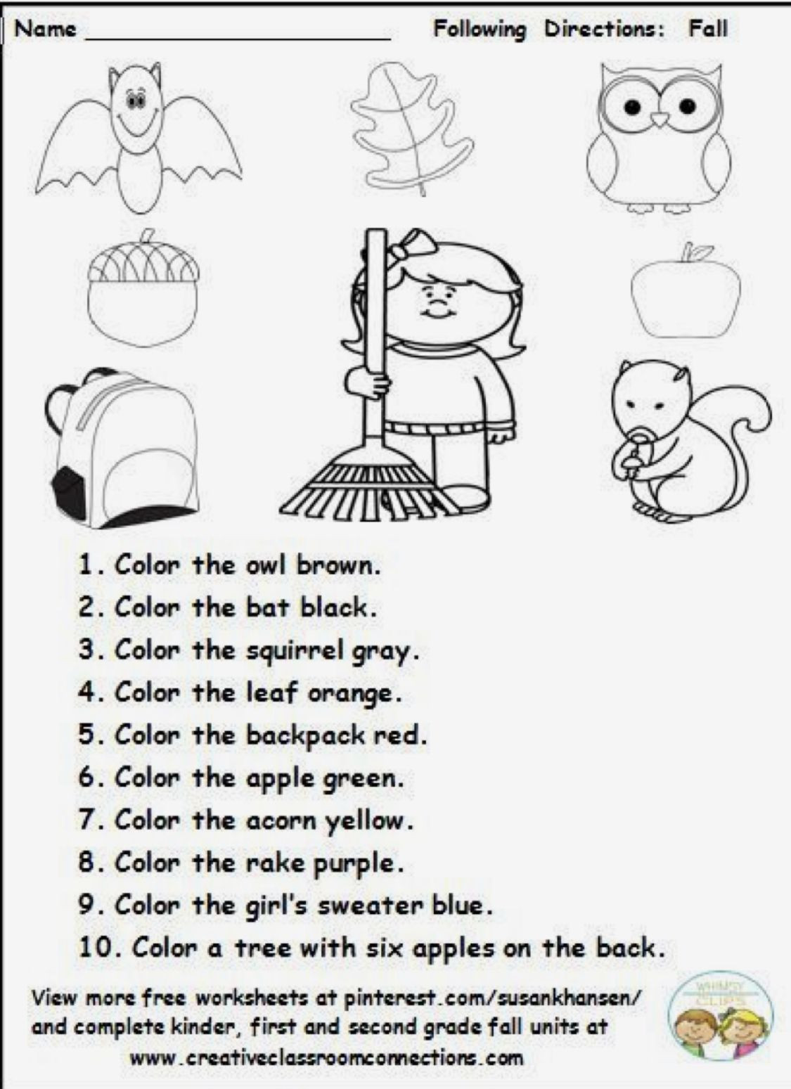 Printable Following Directions Worksheets Following Directions