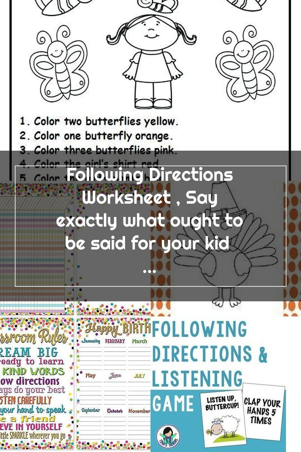 Printable Following Directions Worksheets Pin On Following Directions
