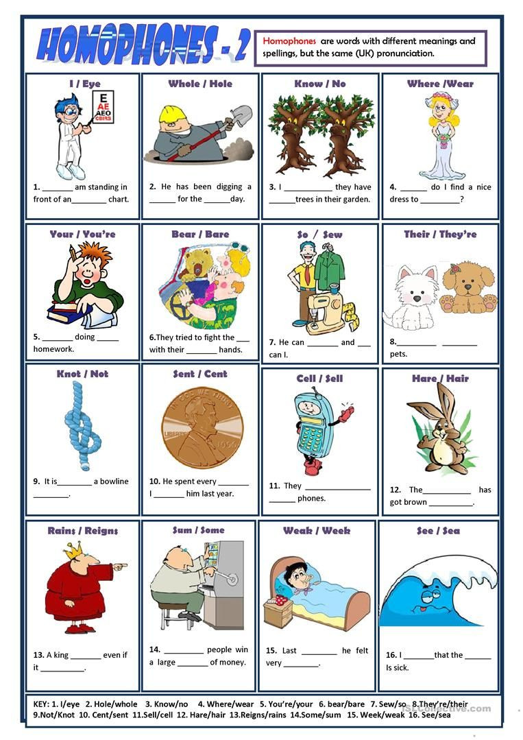Printable Homophone Worksheets Homophones 2 Worksheet Free Esl Printable Worksheets Made