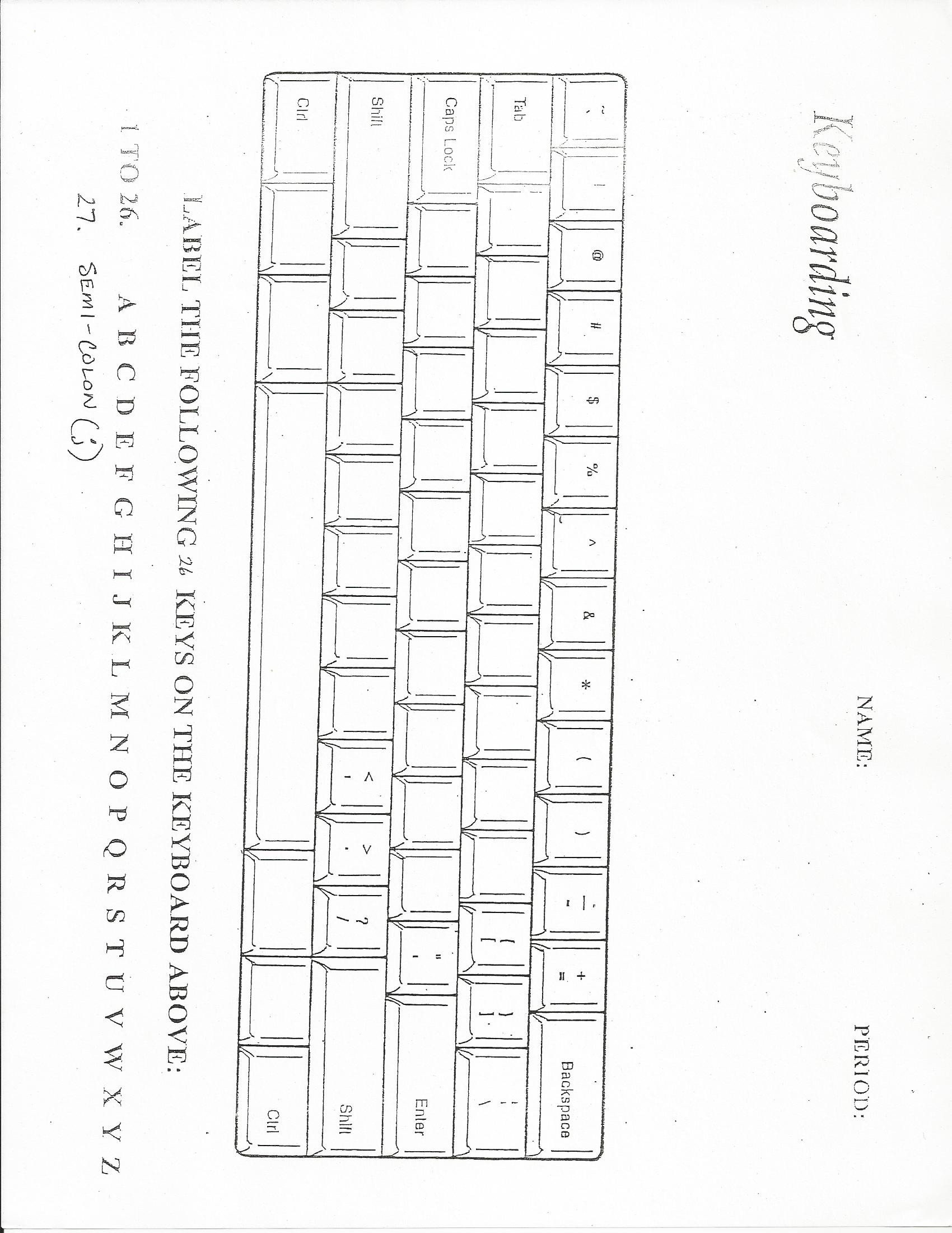 Printable Keyboarding Worksheets Puter Puzzles Worksheets