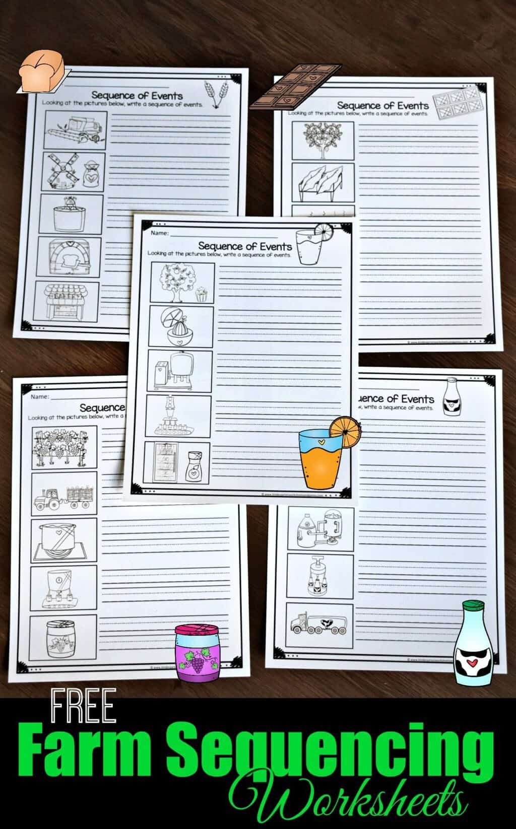 Printable Sequence Worksheets Farm Sequencing Worksheets
