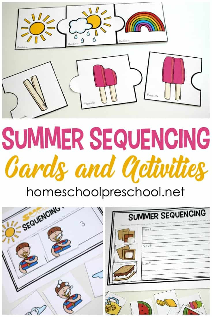 Printable Sequence Worksheets Free Printable Summer Sequencing Cards for Preschoolers
