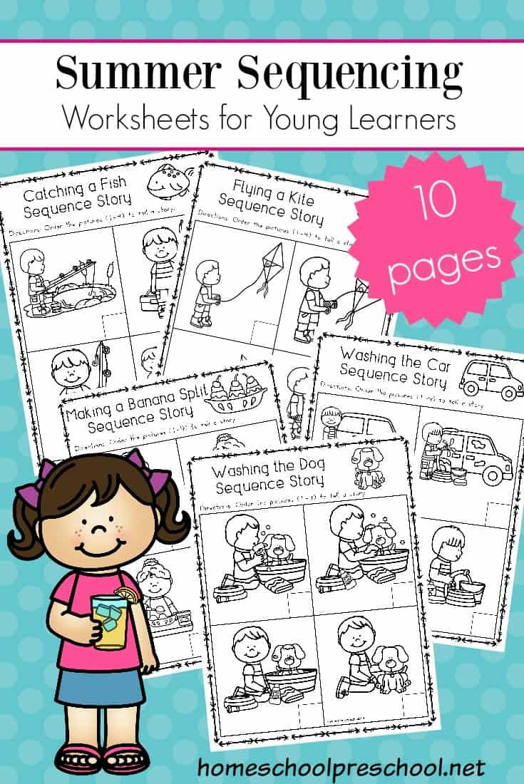 Printable Sequence Worksheets Free Sequencing Worksheets for Summer Learning