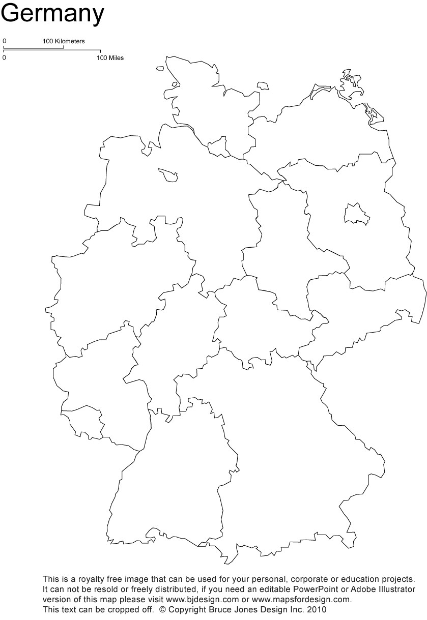Printable States and Capitals Quiz German States In German Quiz by Bahoover