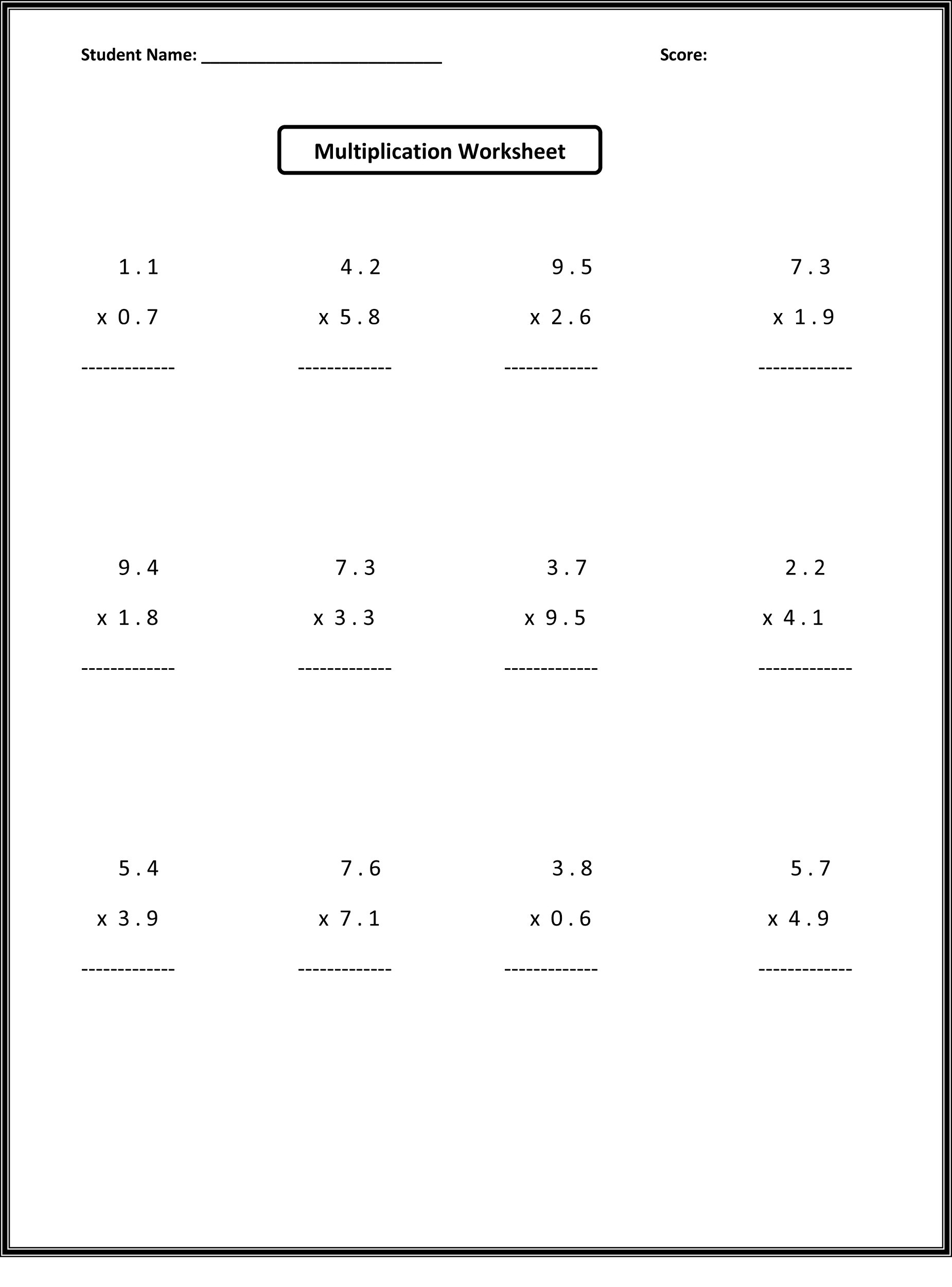 Probability Worksheet 5th Grade 6th Grade Math Worksheets Activity Shelter Free Decimals