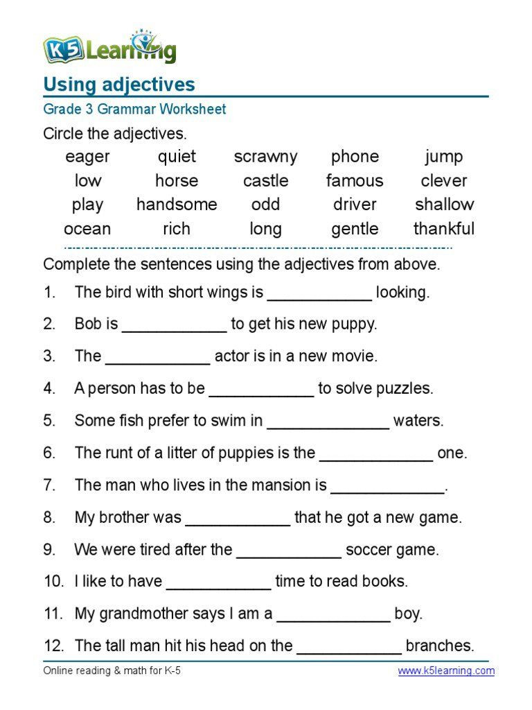 Punctuation Worksheets 5th Grade 5th Grade English Worksheets