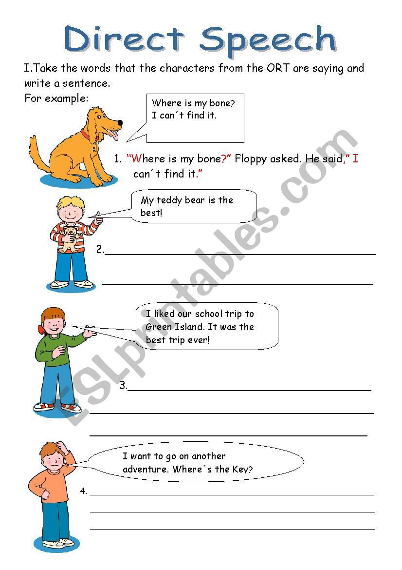 Punctuation Worksheets 5th Grade Direct Speech Esl Worksheet by Yizelt Punctuation Worksheets