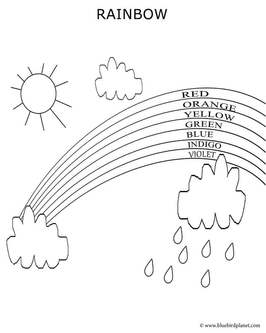 Free printable worksheet Coloring pages Color the rainbow
