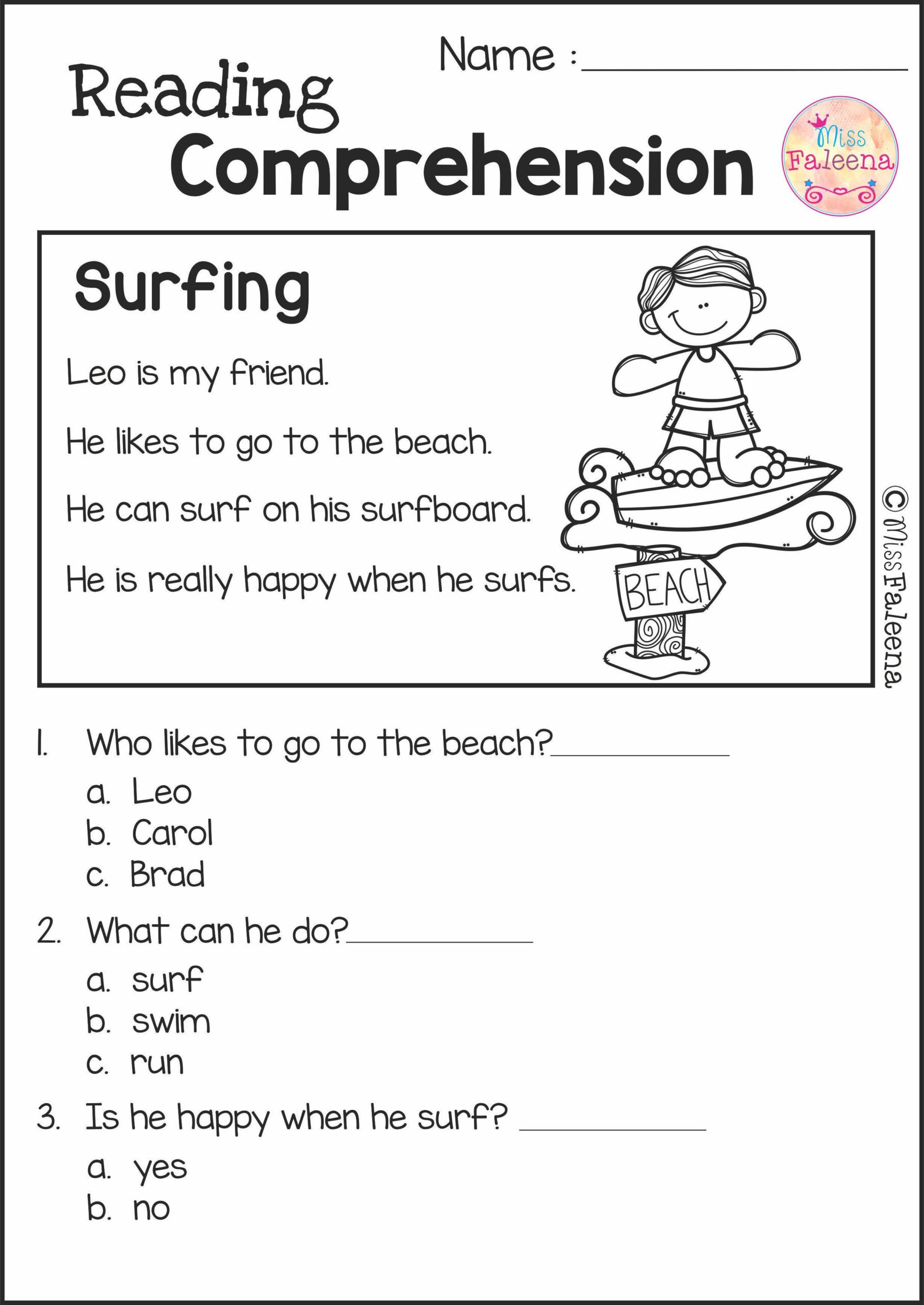 Reading Comprehension 7th Grade Worksheet Reading Prehension Set 2nd Grade Worksheets Get to Know