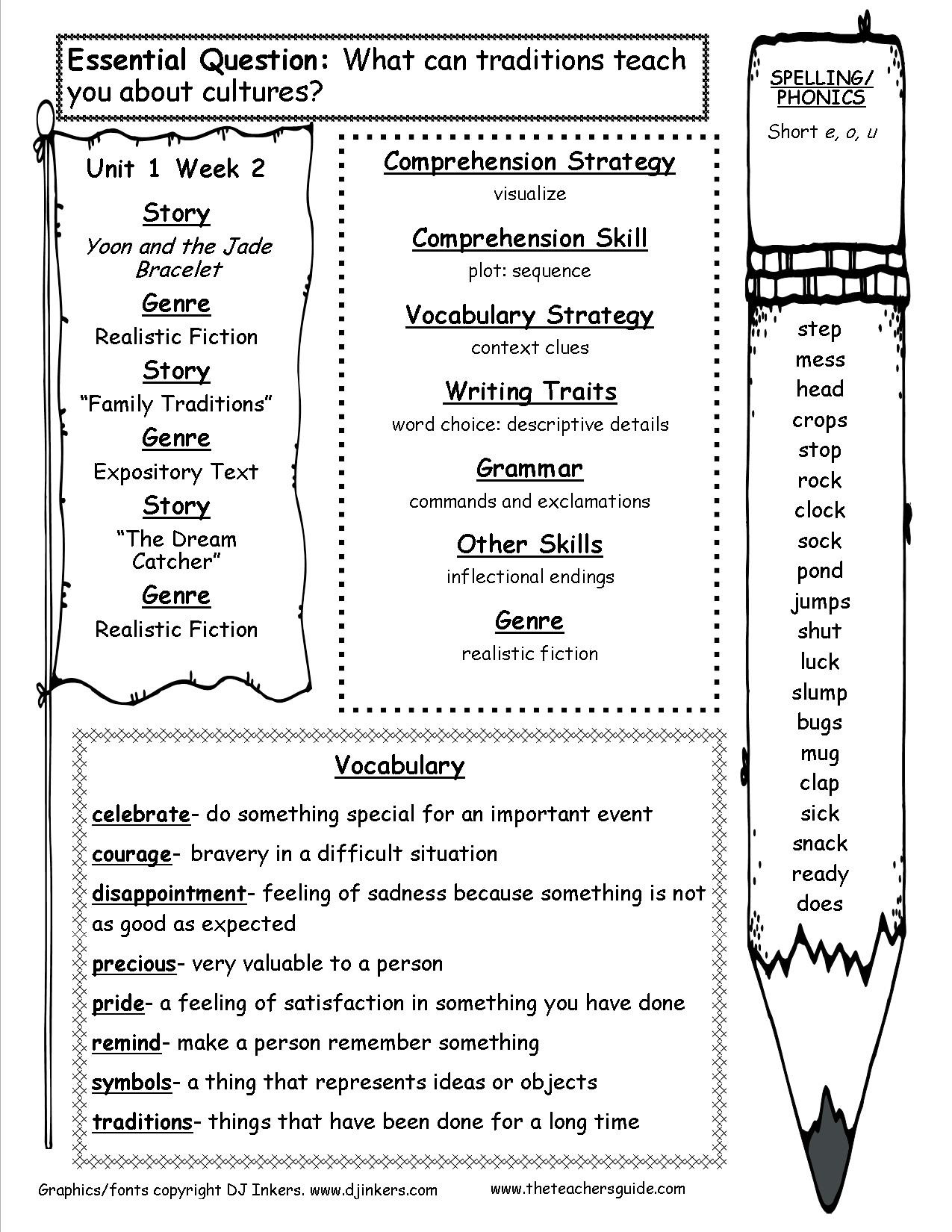 Reading Worksheets 5th Grade Mcgraw Wonders Third Grade Resources and Printouts 3rd