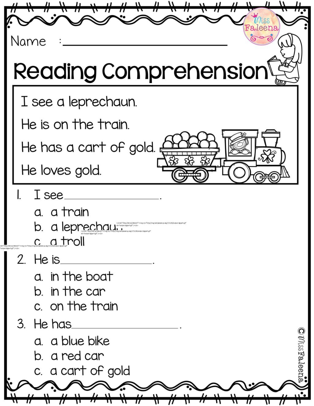 Reading Worksheets 5th Grade Worksheet Tremendous Readin S for Kindergarten
