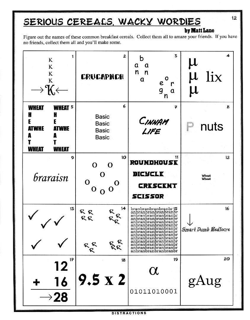 Rebus Brain Teasers Printable Figure It Out