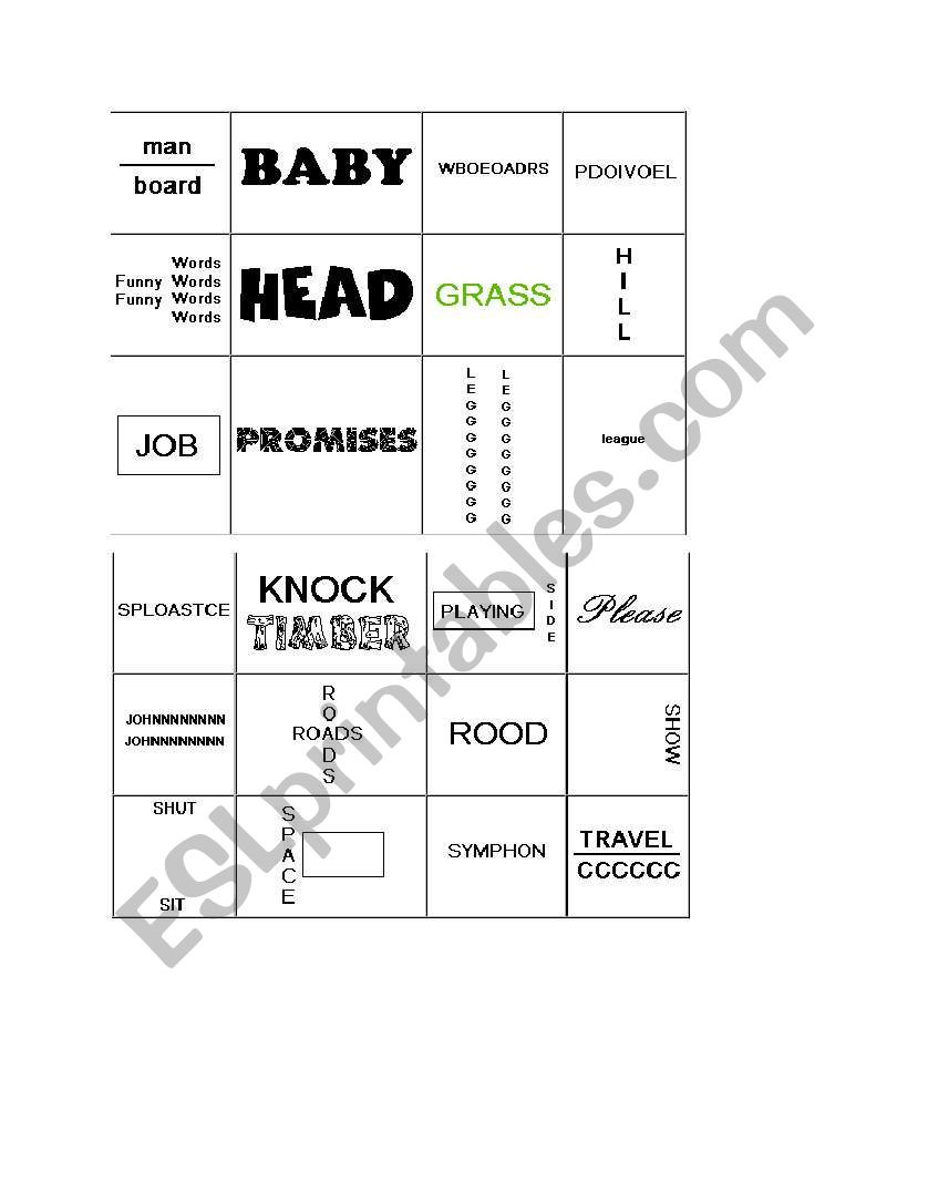 Rebus Puzzles for Middle School English Worksheets Rebus Puzzle