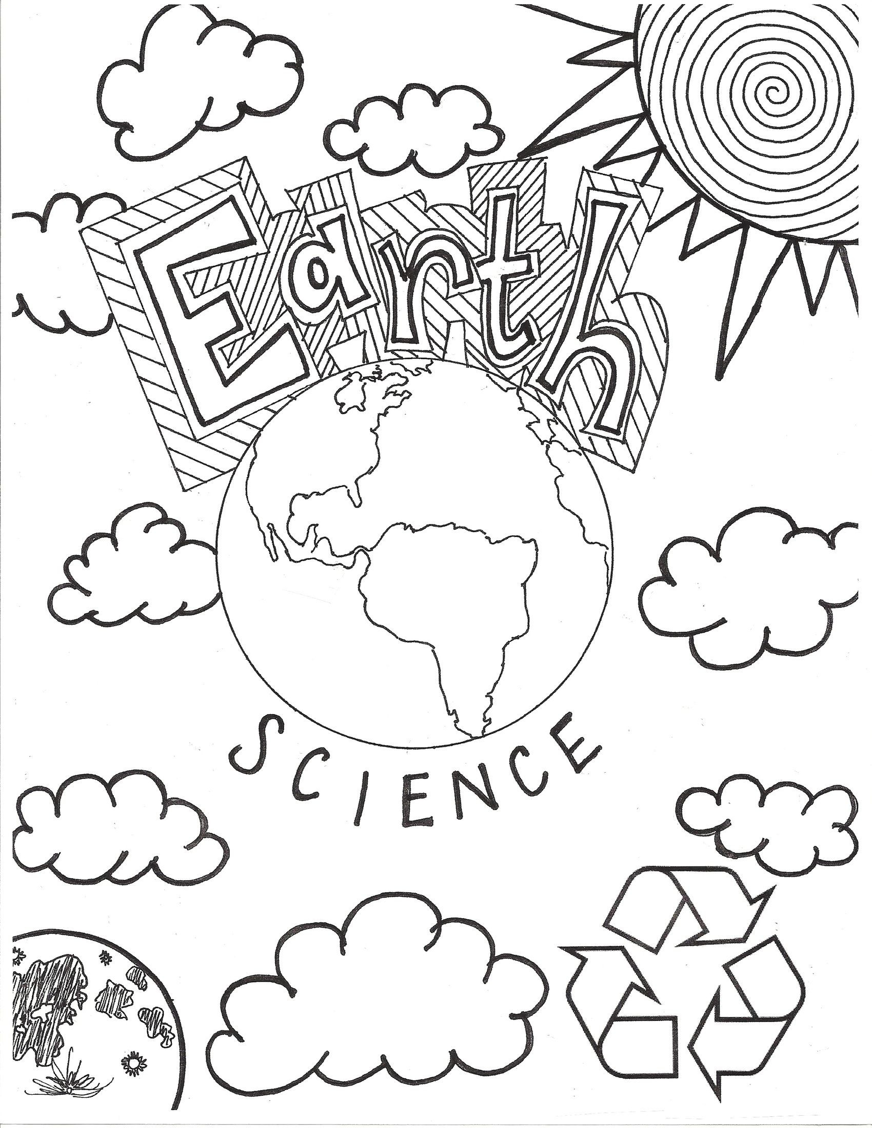 Recycling Worksheets for Middle School Earth Science Coloring Cover Middle School Free Recycling