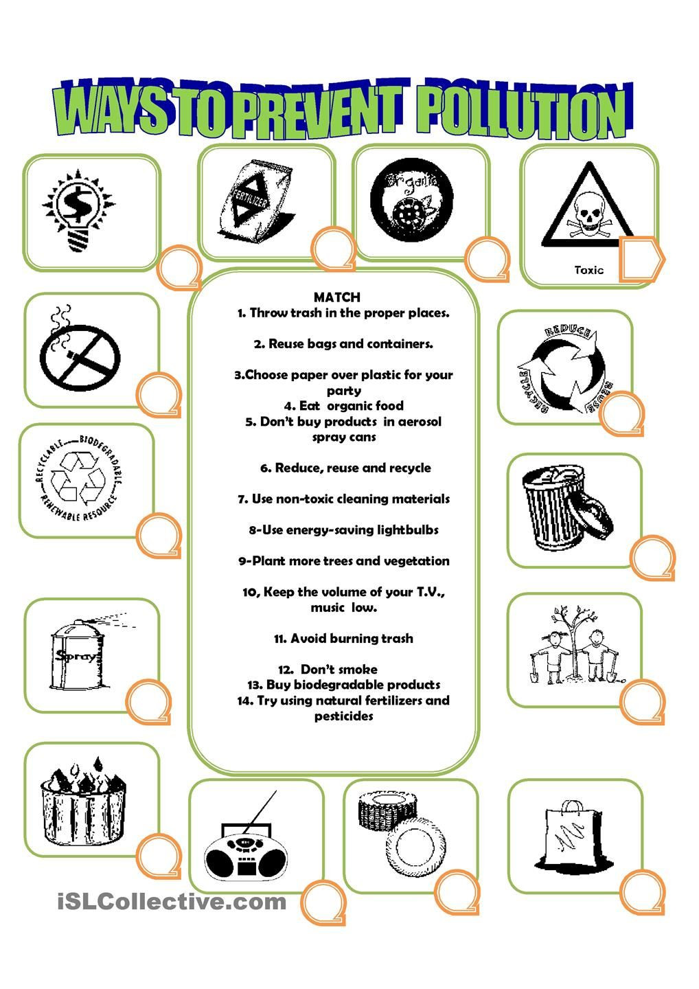 Recycling Worksheets for Middle School Reduce Reuse Recycle Worksheet