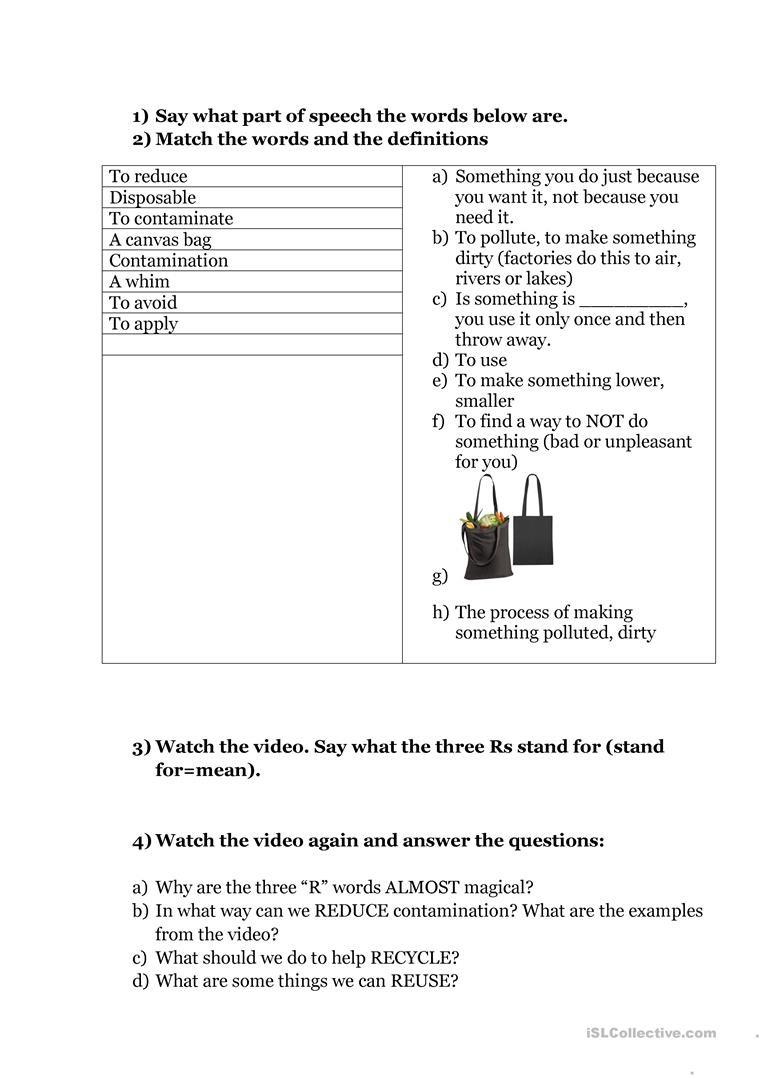 Recycling Worksheets for Middle School the Recycling Factory Worksheet Answers Promotiontablecovers