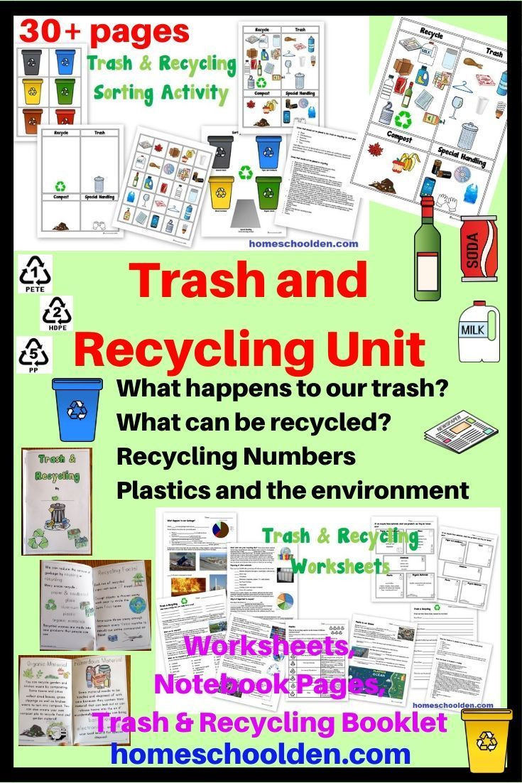 Recycling Worksheets for Middle School Trash and Recycling Worksheets and Activities
