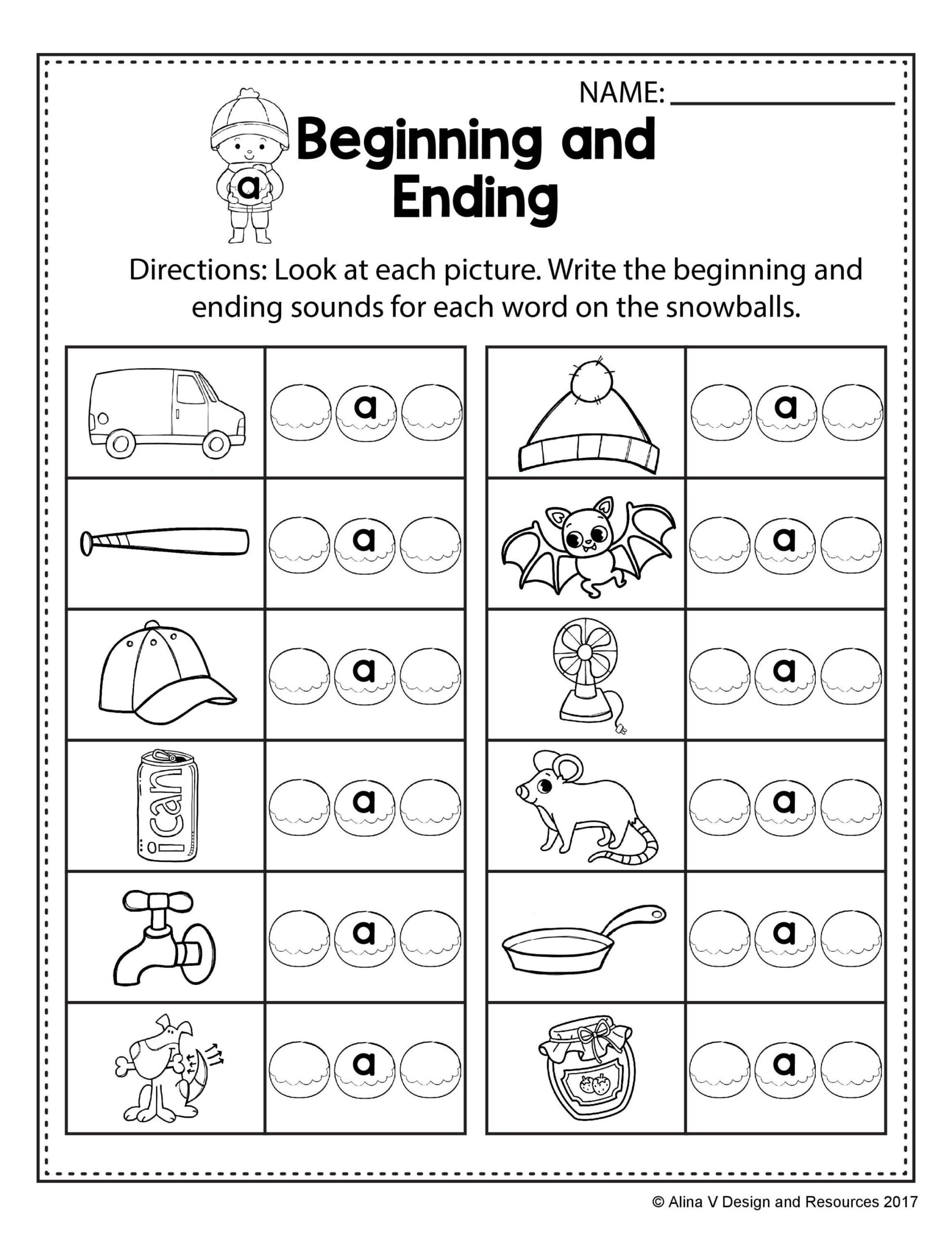 Rhyming Worksheets for Preschool Free Winter Literacy Worksheet for Kindergarten No Prep