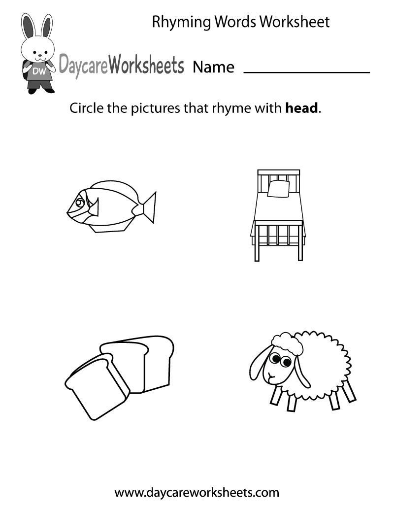 Rhyming Worksheets for Preschool Pin On Letter Worksheets
