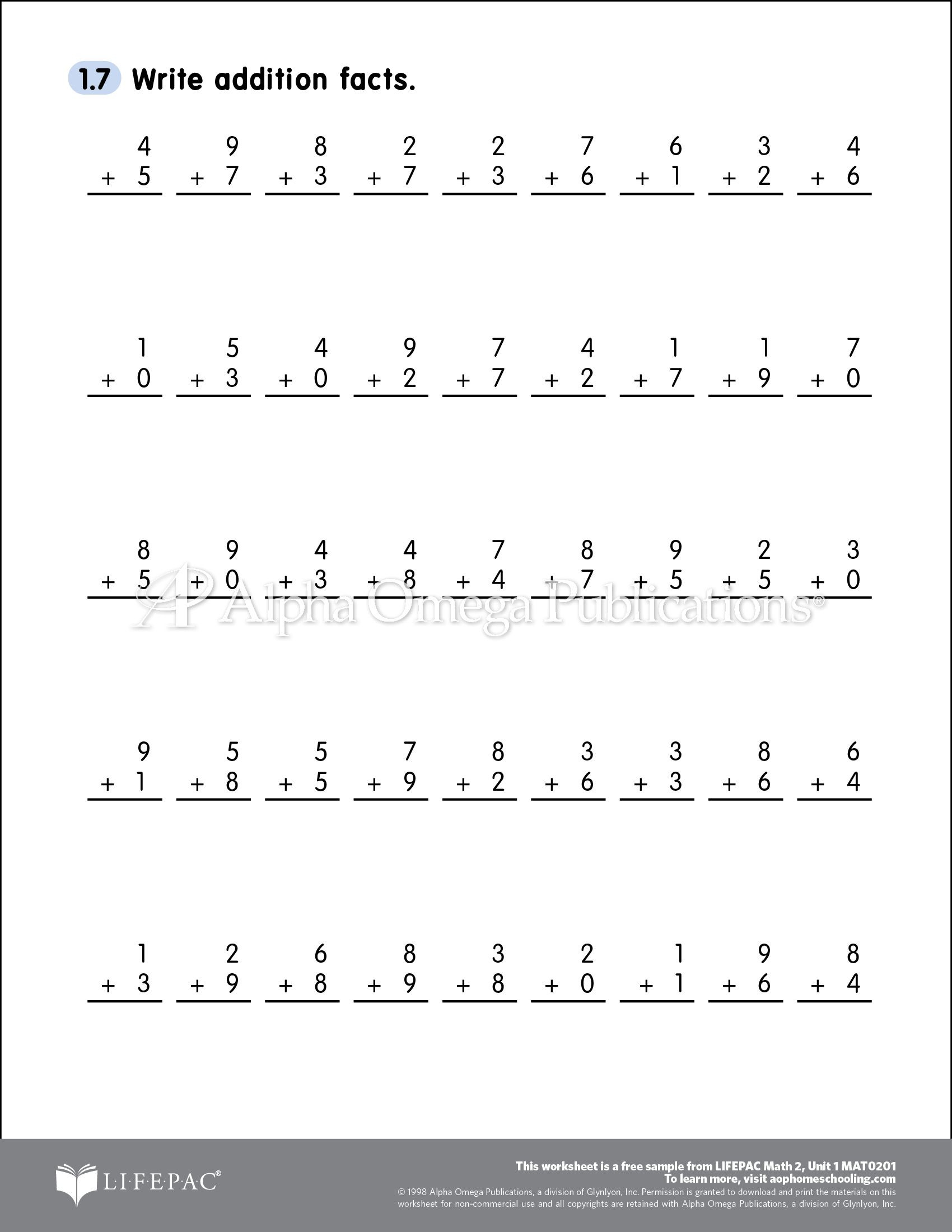 Saxon Math 1st Grade Worksheets Free Able Printable Worksheet Sample Page for