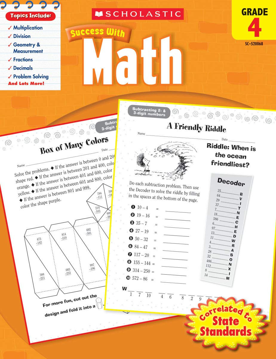 Scholastic Math Worksheets Scholastic Success with Math Amazon Scholastic Books
