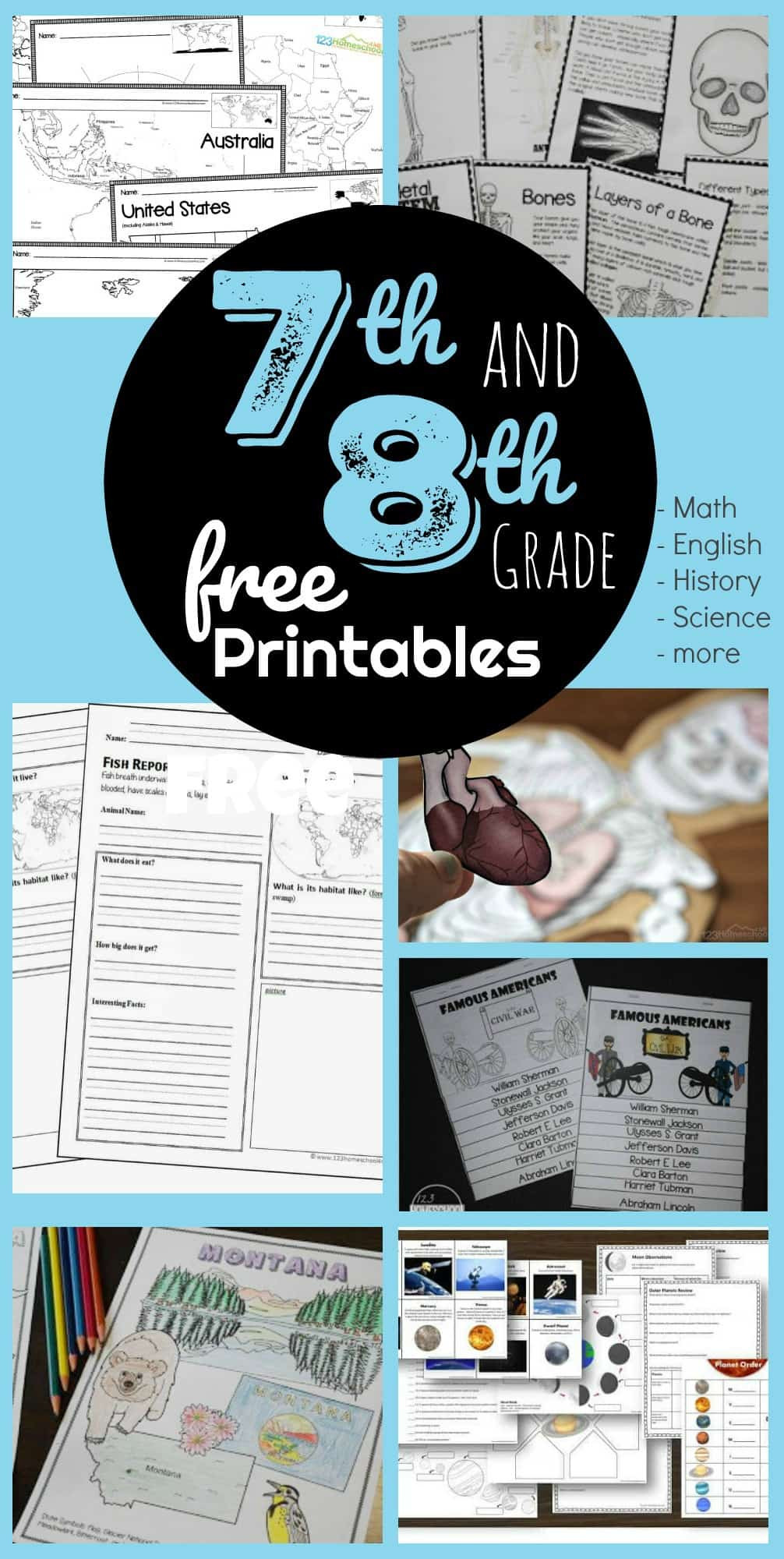 Science 7th Grade Worksheets Free 7th & 8th Grade Worksheets