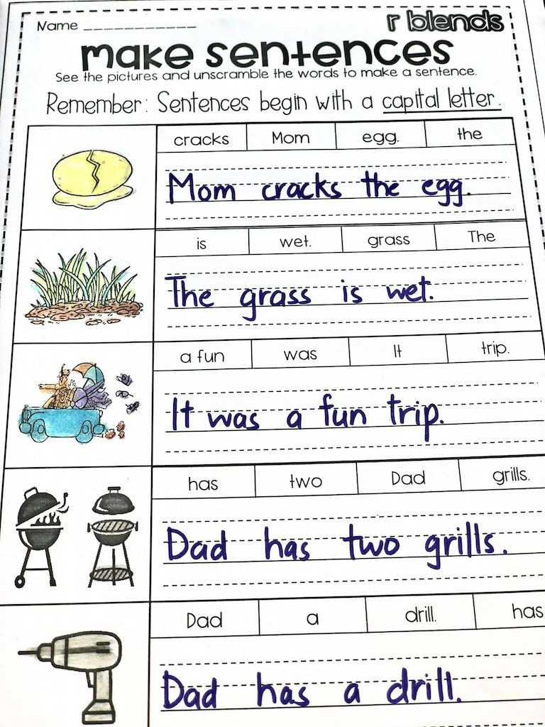 Scrambled Sentences Worksheets 2nd Grade R Blends Worksheets Br Cr Dr Fr Gr Pr Tr