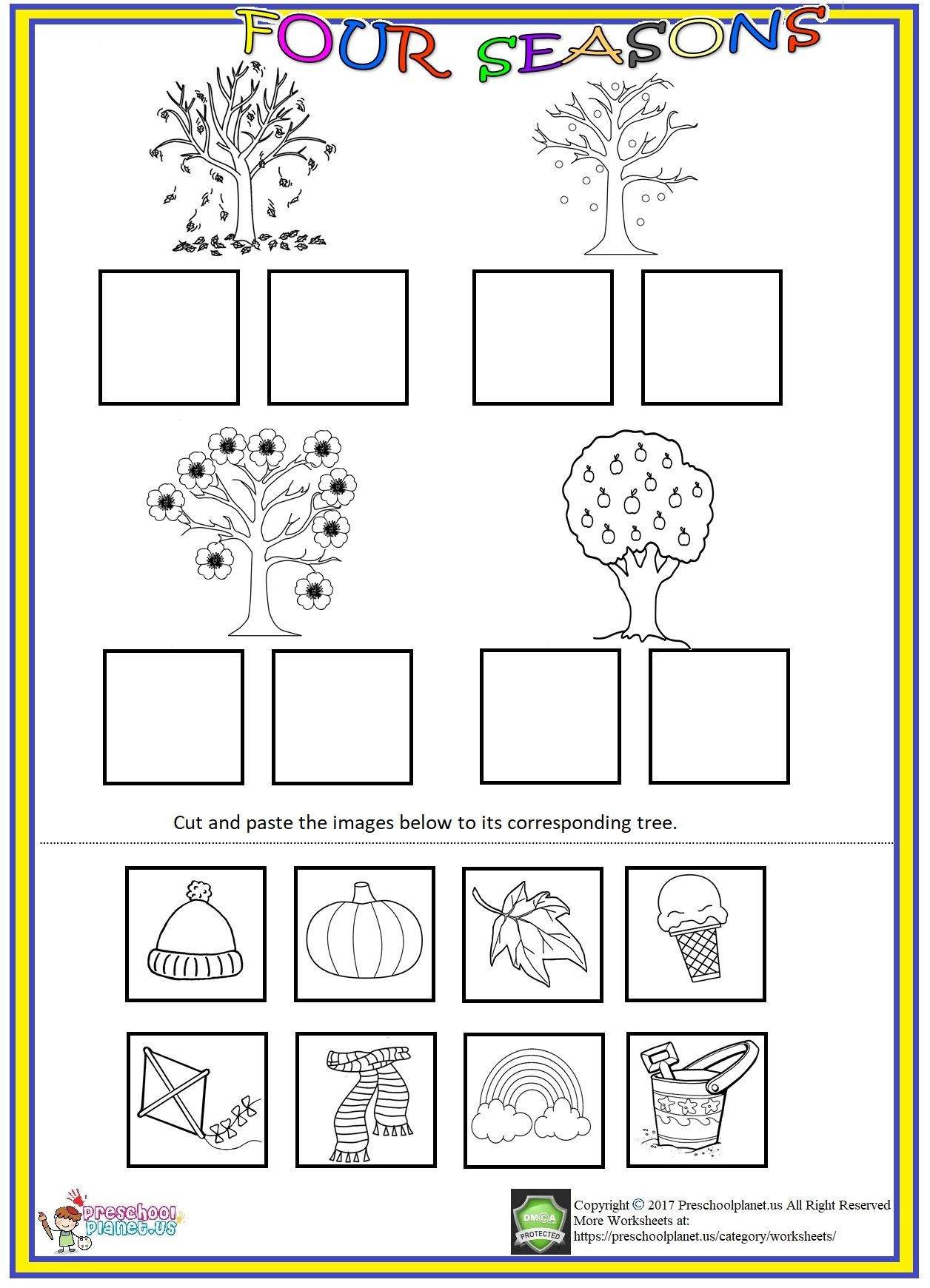 Seasons Worksheets for Preschoolers Pin On Preschool