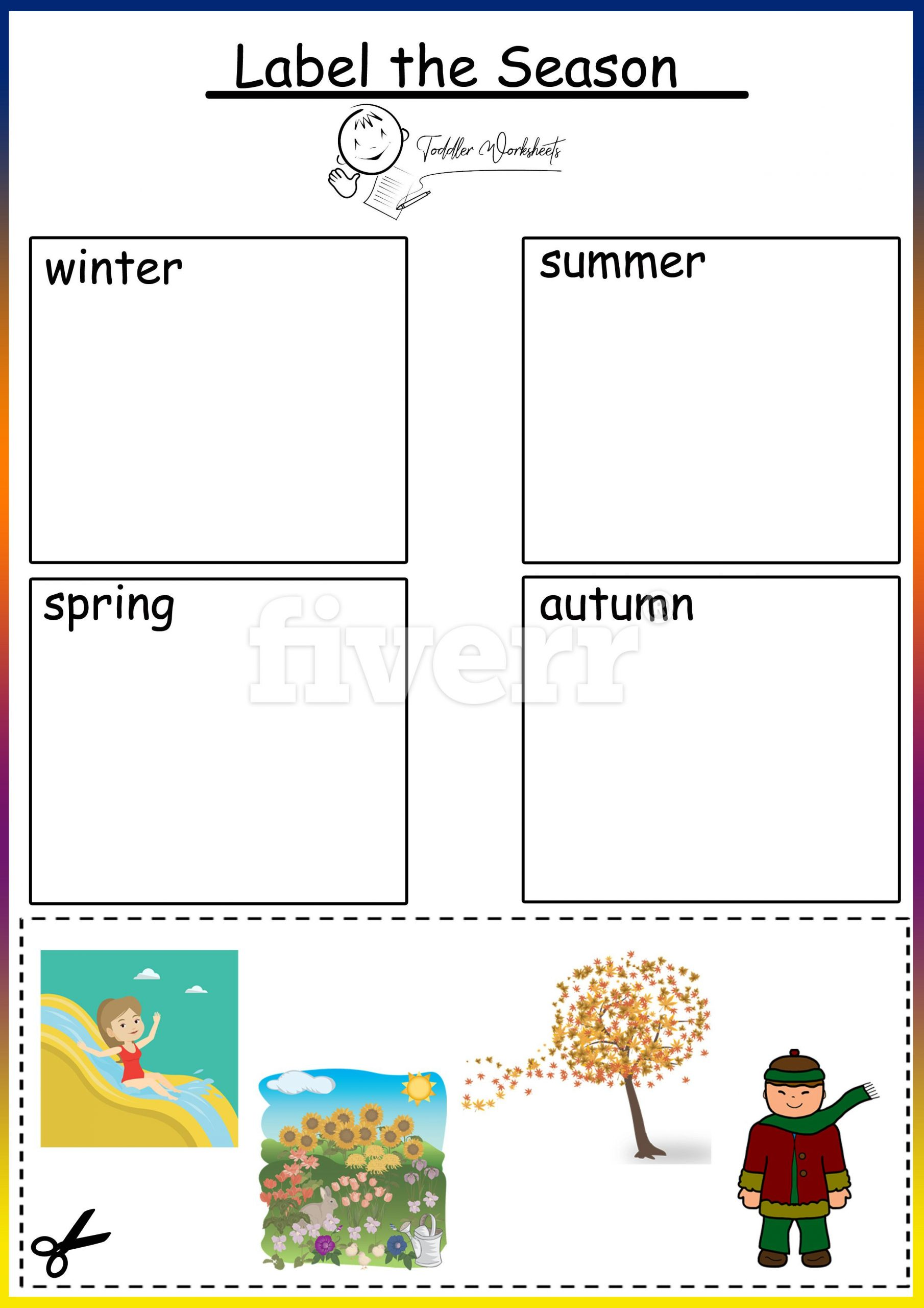 Seasons Worksheets for Preschoolers Preschool Free Worksheers Seasons