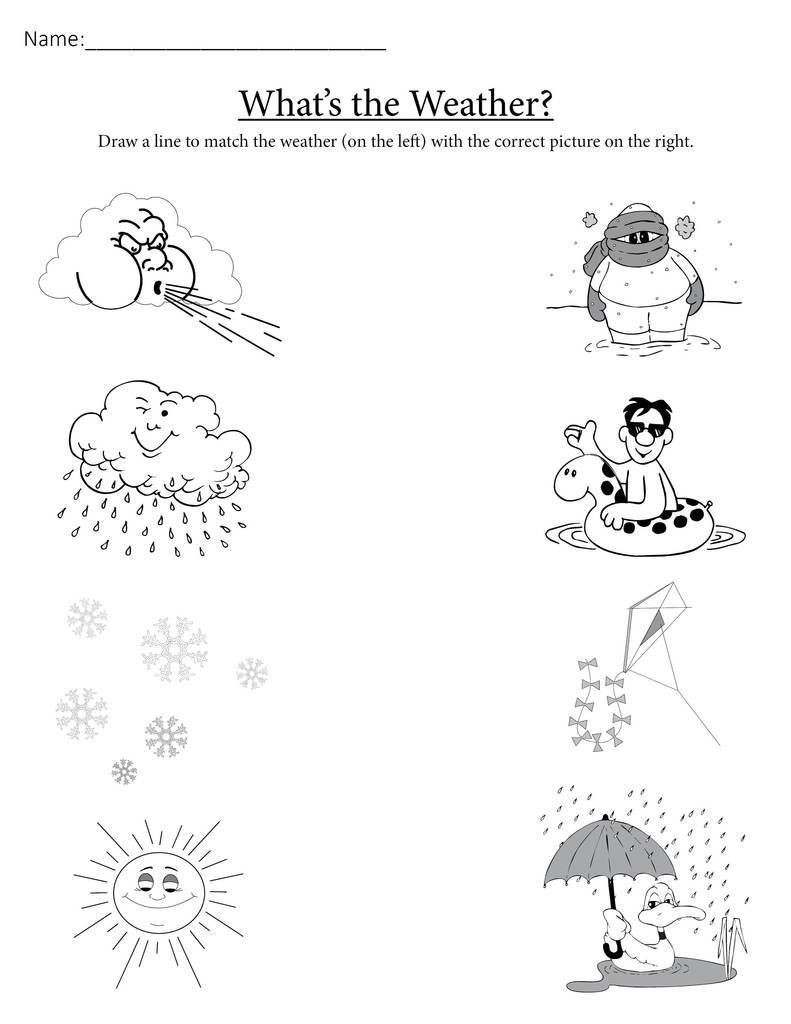 Seasons Worksheets for Preschoolers Science Worksheet Preschool for Free Download Science