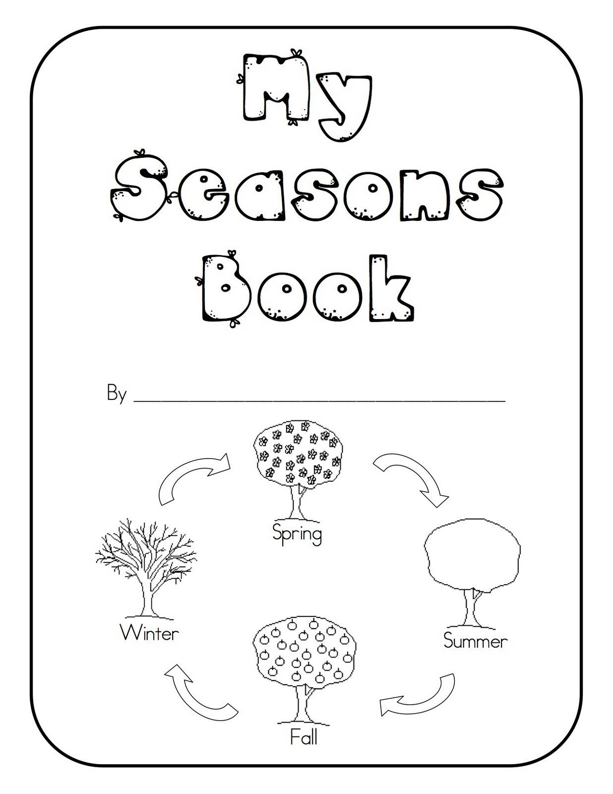 Seasons Worksheets for Preschoolers Seasons