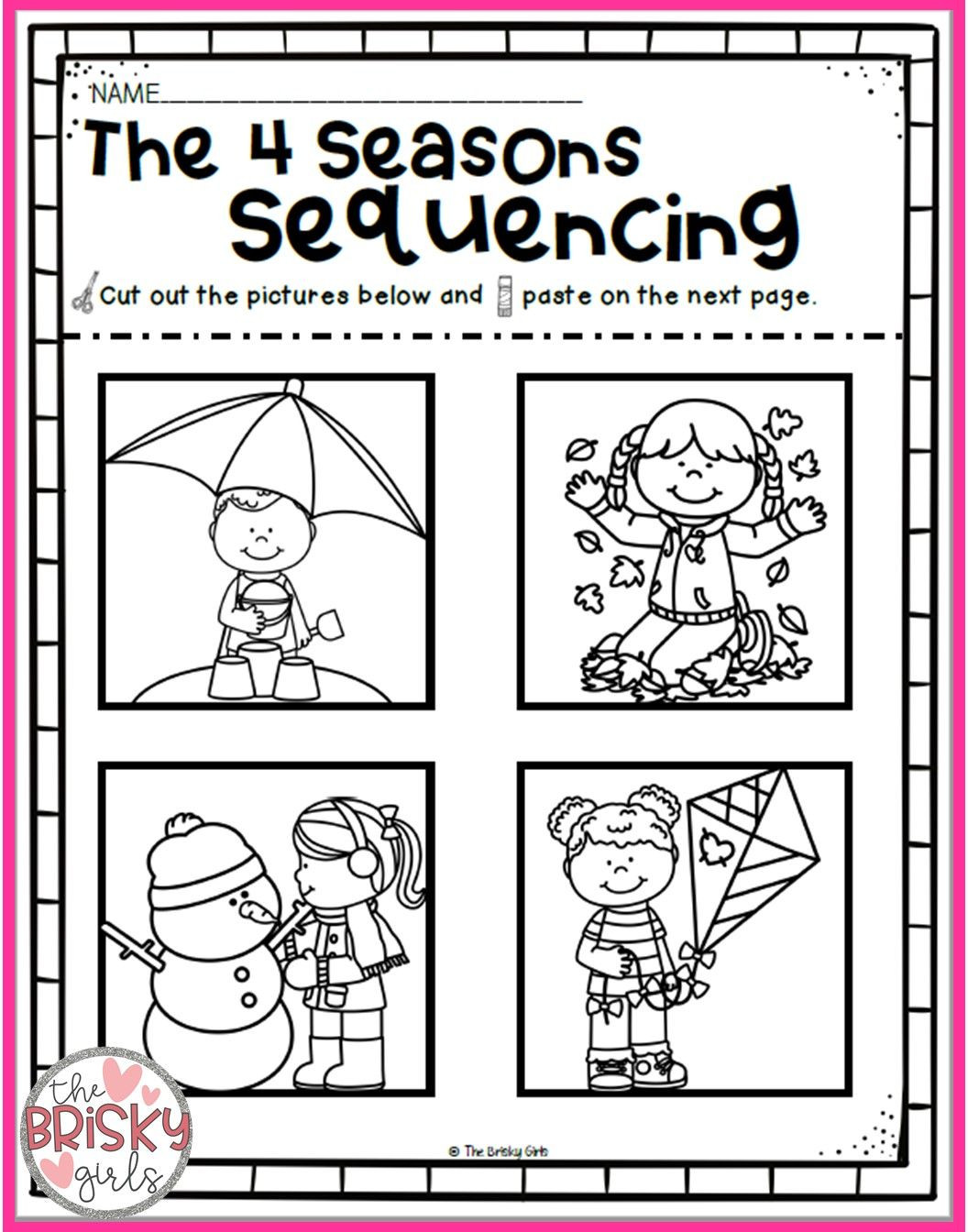Seasons Worksheets for Preschoolers the Four Seasons Reading Passages Take Home Packet