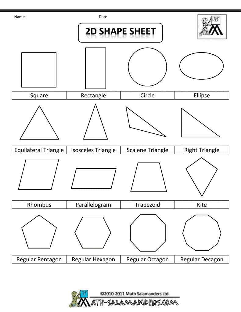 Second Grade Geometry Worksheets 4 Worksheet Free Math Worksheets Second Grade 2 Geometry 3d