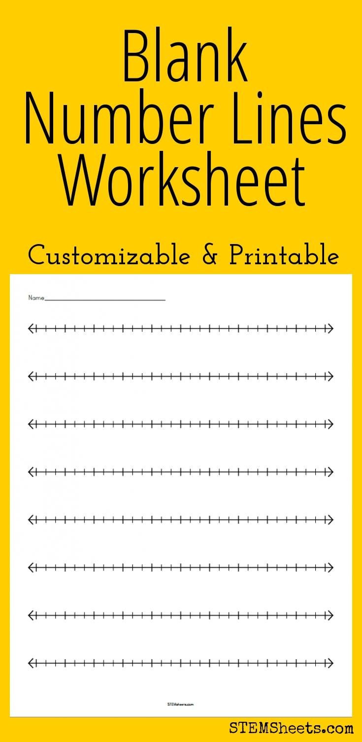 Second Grade Number Line Worksheets Blank Number Lines Worksheet
