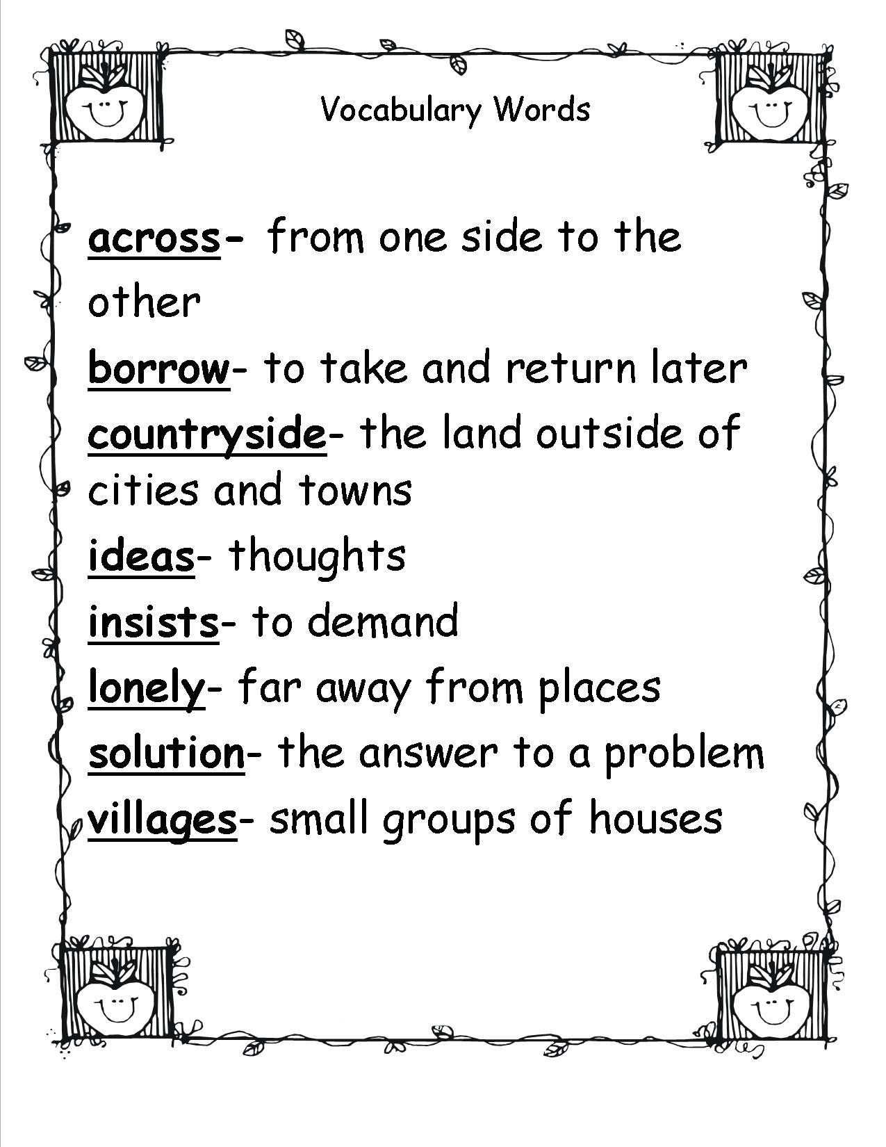 Second Grade Spelling Worksheets 2nd Grade Spelling Words