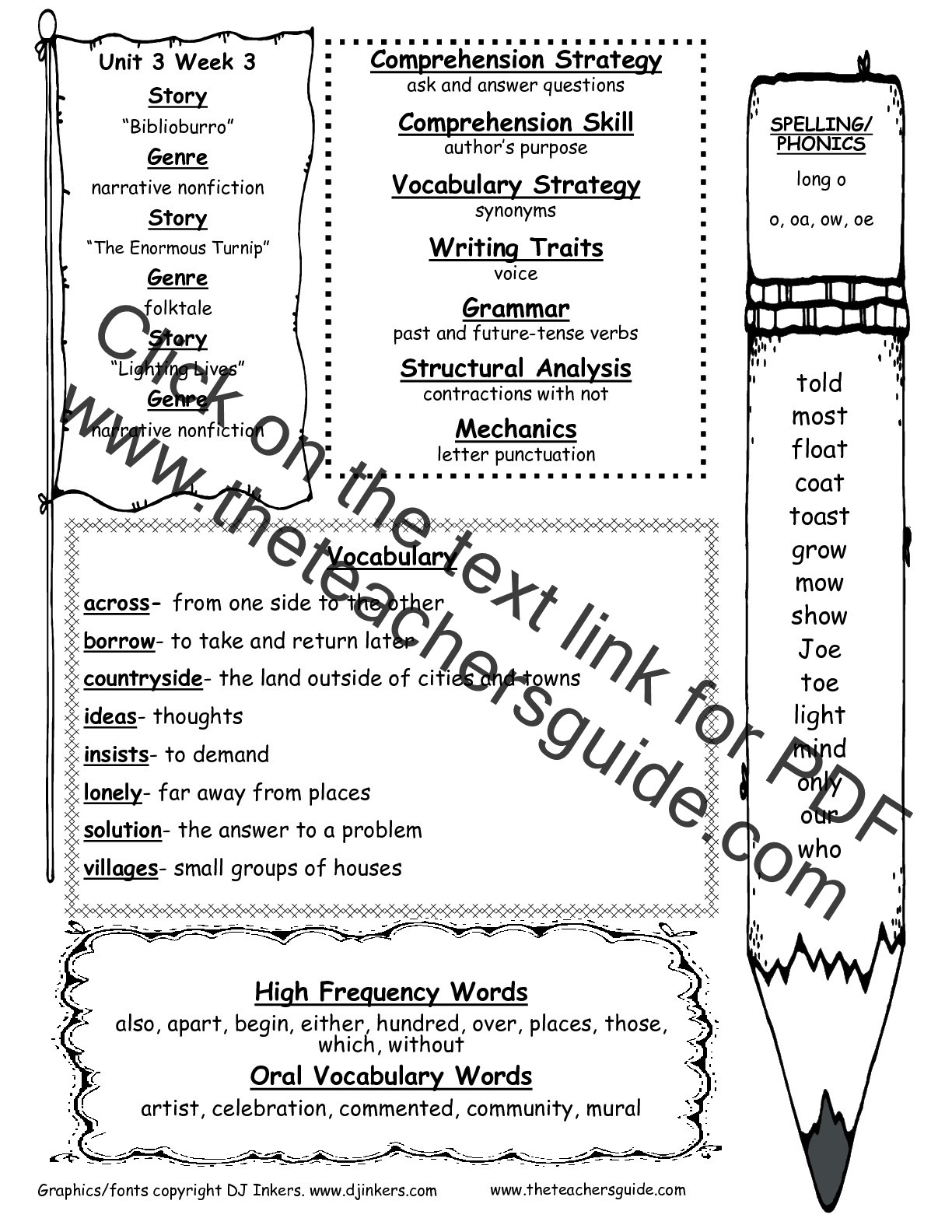 Second Grade Spelling Worksheets Wonders Second Grade Unit Three Week Three Printouts